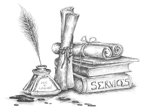 Editing Services by Sara Litchfield, Right Ink on the Wall